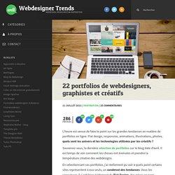 22 portfolios de webdesigners, graphistes et créatifs