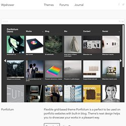 Portfolium WordPress Theme