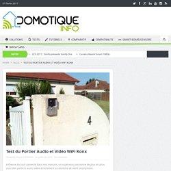 Test du Portier Audio et Vidéo WiFi Konx