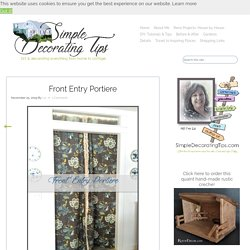Front Entry Portiere - SIMPLE DECORATING TIPS