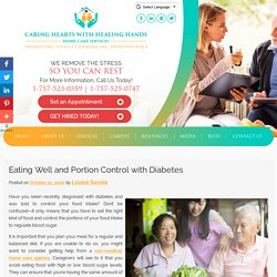 Eating Well and Portion Control with Diabetes