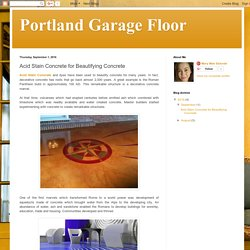 Portland Garage Floor: Acid Stain Concrete for Beautifying Concrete
