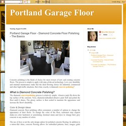 Portland Garage Floor: Portland Garage Floor - Diamond Concrete Floor Polishing - The Basics