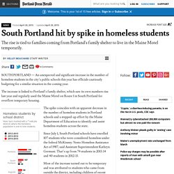 South Portland hit by spike in homeless students - The Portland Press Herald / Maine Sunday Telegram