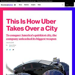 How Uber Took Over Portland: Release the Lobbyists!
