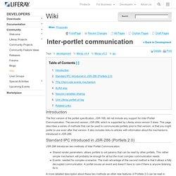 Inter-portlet communication