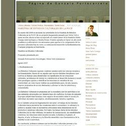 MAESTRIA DE ESTUDIOS CULTURALES EN LA PUCP