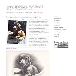 Portrait Artist Anna Bregman - affordable people and pet portraits - How To Draw Pet Portraits