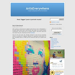 post-it portrait murals « ArtIsEverywhere