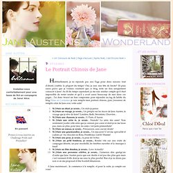 Le Portrait Chinois de Jane : Jane Austen is my Wonderland