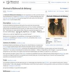 Portrait d'Edmond de Belamy