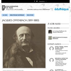 Portrait de Jacques Offenbach
