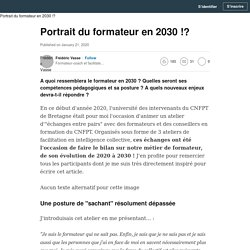 (1) Portrait du formateur en 2030 !?