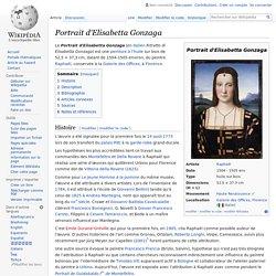 Portrait d'Elisabetta Gonzaga