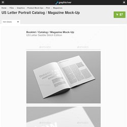 US Letter Portrait Catalog / Magazine Mock-Up
