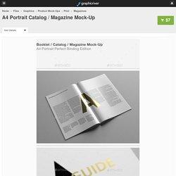 A4 Portrait Catalog / Magazine Mock-Up