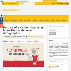 Portrait of a Content Marketer: More Than a Marketer