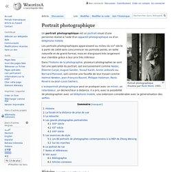 Définition du portrait photographique