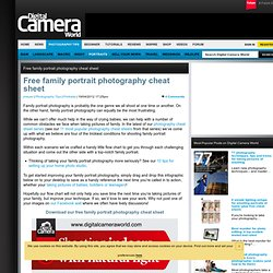 Free family portrait photography cheat sheet