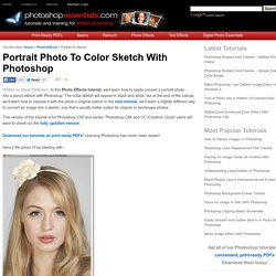 Portrait Photo To Color Sketch
