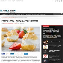 Portrait-robot du senior sur internet