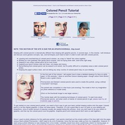 Colored Pencil portrait tutorial - lesson on how to draw a face with Prismacolors.