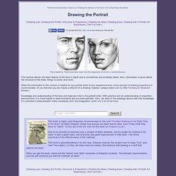 How to draw the face - Portrait Art Tutorials, lessons on portrait art basics.