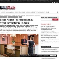 Etude Adagio : portrait-robot du voyageur d'affaires français -