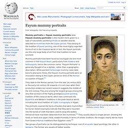 Fayum mummy portraits (wiki)