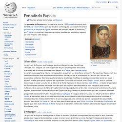 Portraits du Fayoum (wiki)