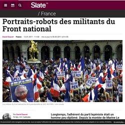 Portraits-robots des militants du Front national