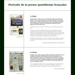 Portraits de quotidiens