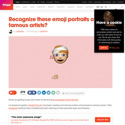 Emoji portraits of world famous artists are instantly recognizable