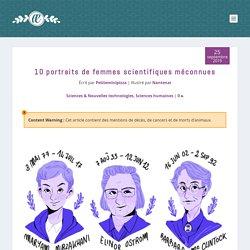 10portraits de femmes scientifiques méconnues