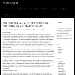 The portrayal and presence of the body in animated films