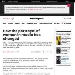 How the portrayal of women in media has changed