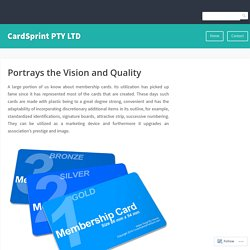 Portrays the Vision and Quality – CardSprint PTY LTD