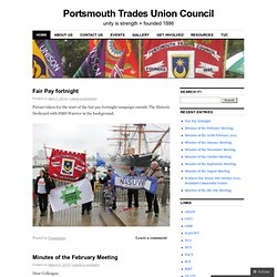 Portsmouth Trades Union Council | unity is strength + founded 1886