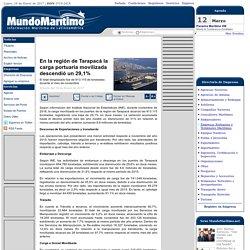 En la región de Tarapacá la carga portuaria movilizada descendió un 29,1%