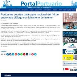 Portuarios podrían bajar paro nacional del 16 de enero tras diálogo con Ministerio de Interior - Portal Portuario