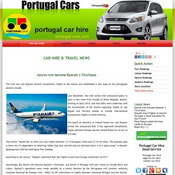 Azores now become Ryanair s 72nd base