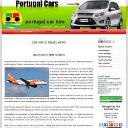 Easyjet Start Flights to Azores