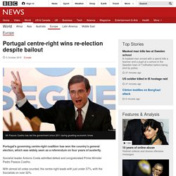 Portugal centre-right wins re-election despite bailout