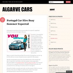 Portugal Car Hire Busy Summer Expected