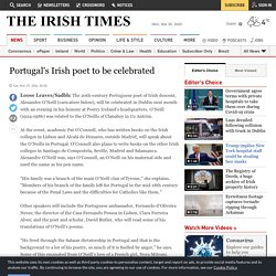 Portugal's Irish poet to be celebrated