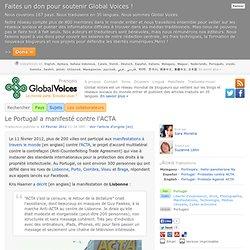 Le Portugal a manifesté contre l'ACTA