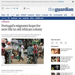 Portugal's migrants hope for new life in old African colony