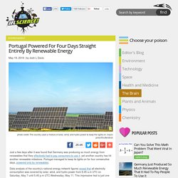 Portugal Powered For Four Days Straight Entirely By Renewable Energy
