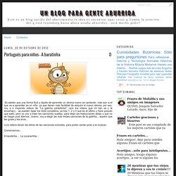 Portugués para niños - A baratinha