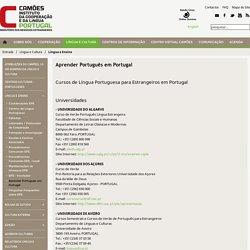 Aprender Português em Portugal - Camões - Instituto da Cooperação e da Língua